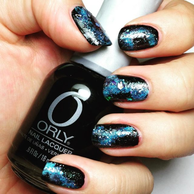 Galaxy 31dc2016 day19 galaxy stars shinebright orly orlynails black bluehellip