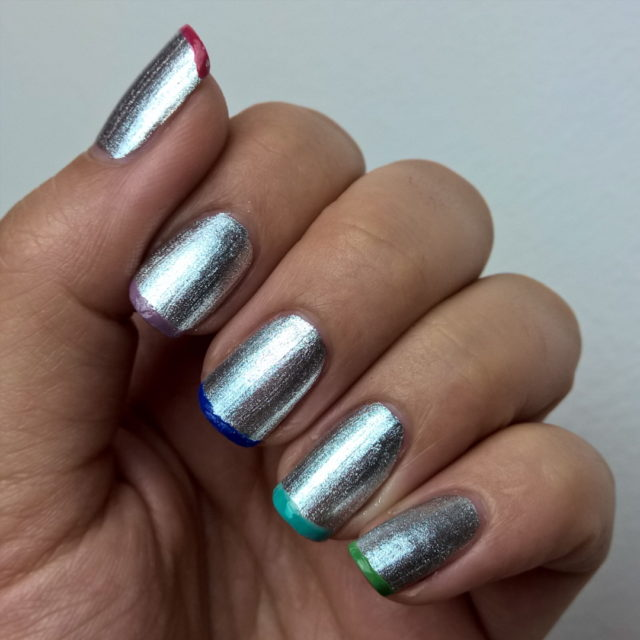 Metallic  31DC2016 day8 metallic metallicnails nailsinclondon cambridgeterrace essie rainbowhellip
