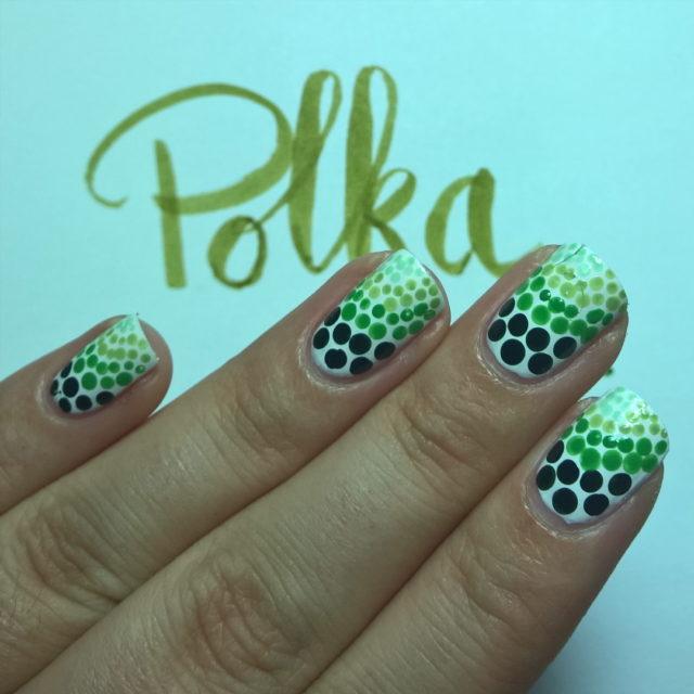 Polka Dots 31DC2016 day12 essie green polkadots gradient nailpolishblogger bblogger