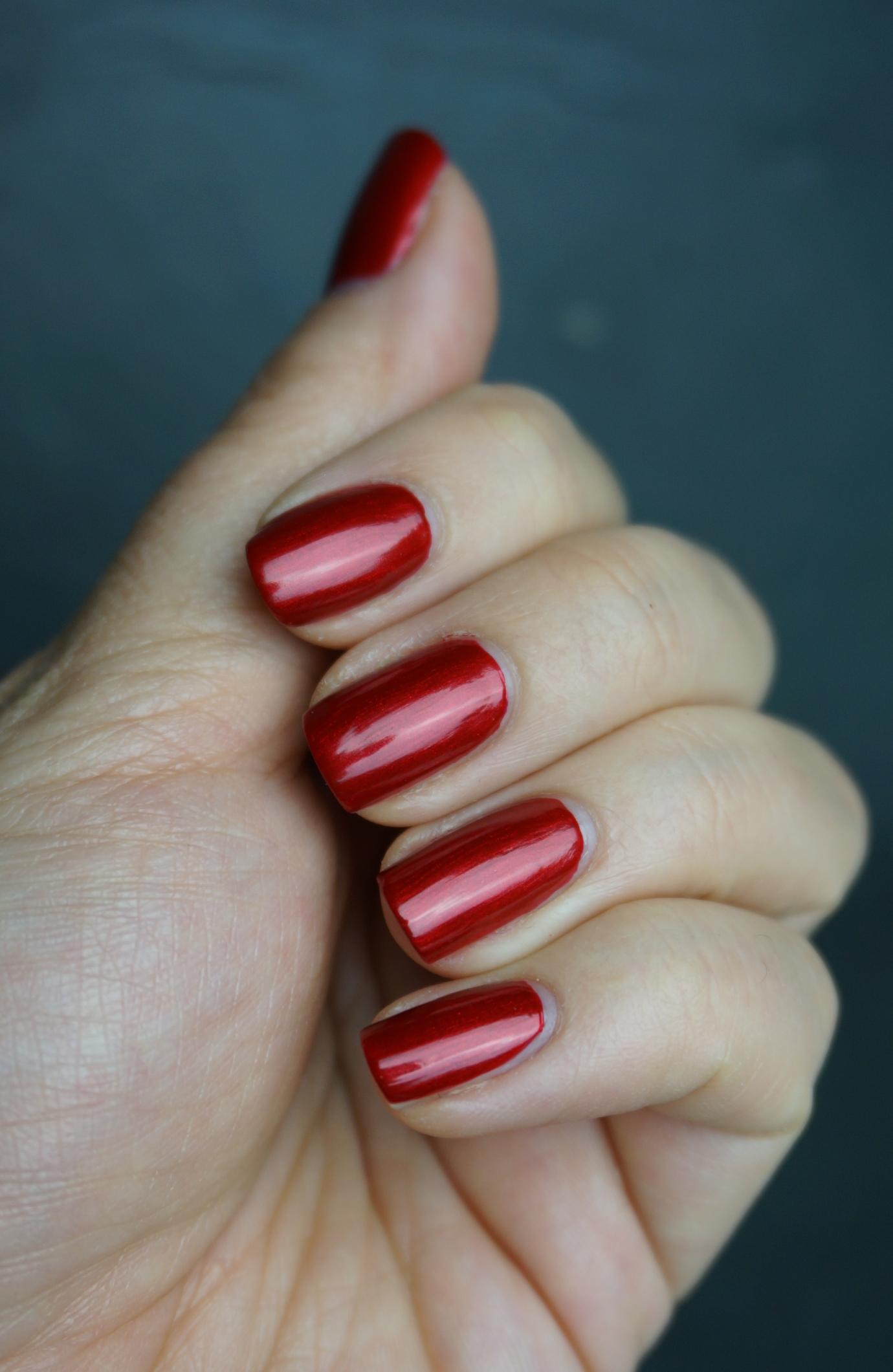OPI danke-shiny red